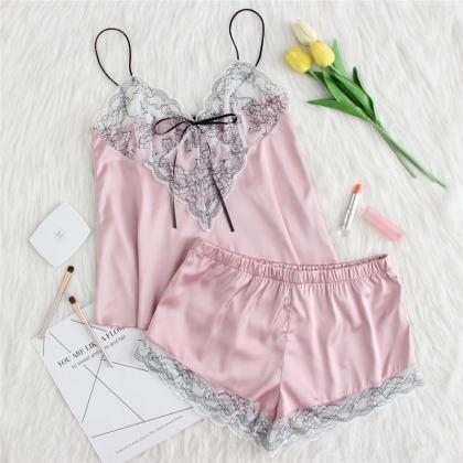 *Free Shipping* Pink Lace Applique ..
