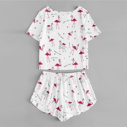 *Free Shipping* Allover Flamingo Le..