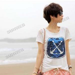 women's t-shirt Short Sleeve Cotton..