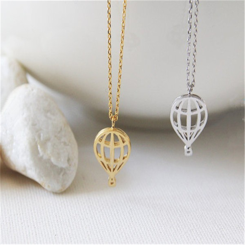 *Free Shipping* Trendy Jewelry Wholesale Hot Air Balloon Necklace Cute and Sweet Sky Balloon Necklace For Birthday Gift Dainty Sparkly Gift 32798859992