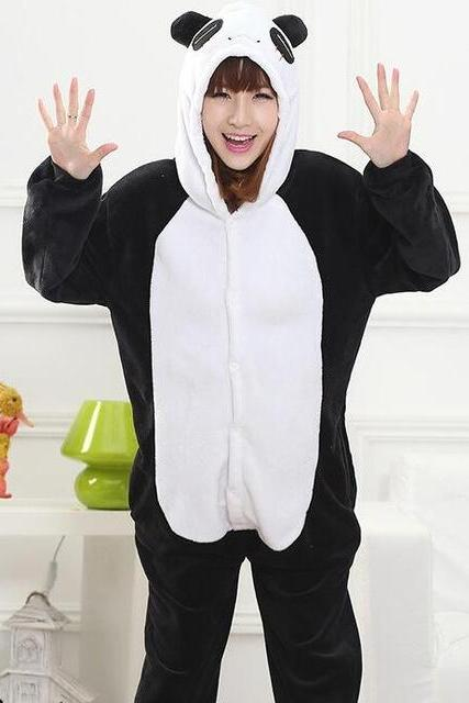 *FREE SHIPPING* Panda Pajamas Animal Stitch Unicorn Panda Bear Koala Pikachu Onesie Adult Unisex Cosplay Costume Sleepwear For Men Women 2013771880