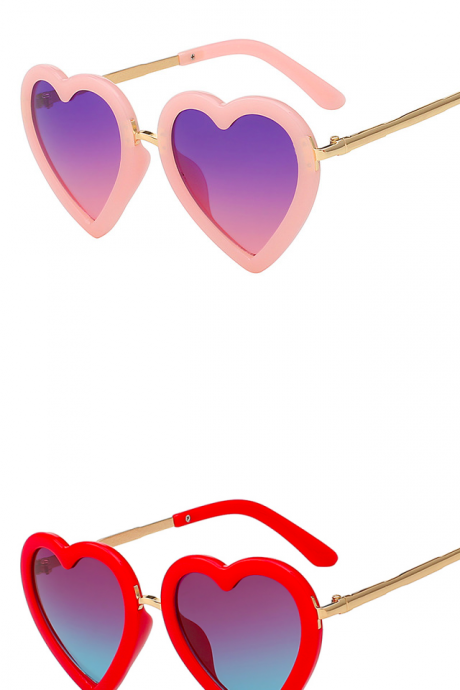 *Free Shipping* Children Kids Sunglasses Fashion Heart Shaped Cute UV400 Designer Frame Eyewear Baby Girls Sunglasses Sun Glasses 32713332455