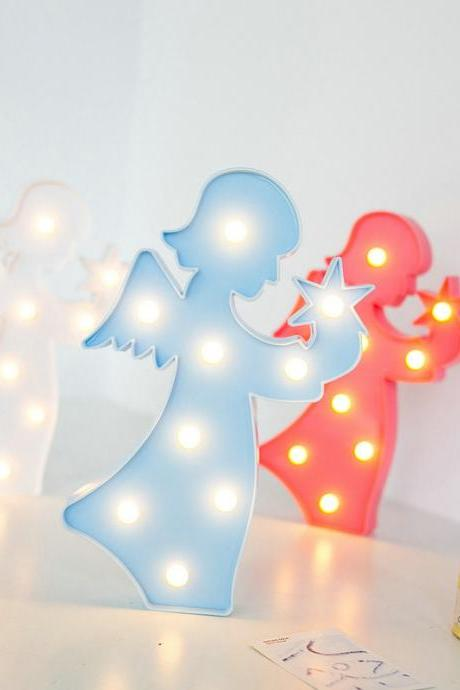 Lovely Angel LED 3D Light Night Light Kids Gift Toy For Children Bedroom Party Home Decoration Lamp Indoor Lighting 32831924435