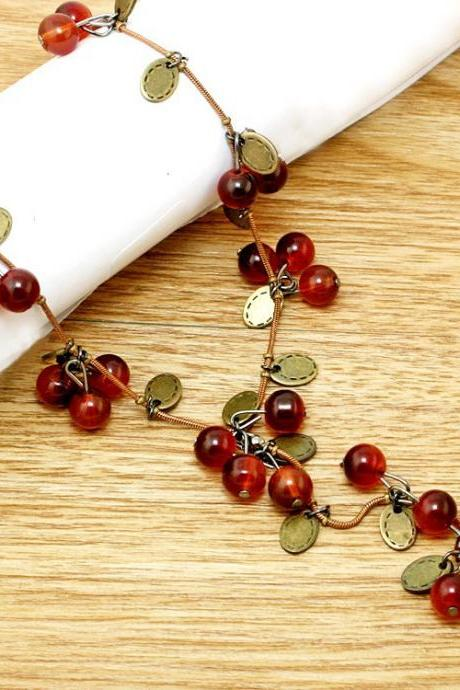 *Free Shipping* New Fashion Women Necklace - Beautiful Red cherries Necklace Pendant Jewelry For women JXB299 931883256