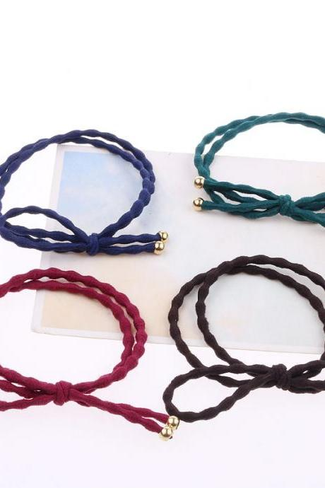 *Free Shipping* Top Fashion Adult Elastic Hair Bands Solid Simple Elegant Elastic Hair Bands Tie Accessories For Women 32636573590