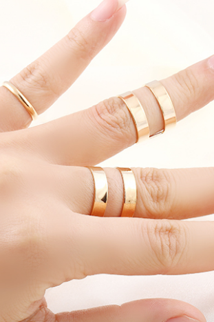*Free Shipping* Top Sales Gold/Silver Plated Fashion Punk Trendy Simple Knuckle Open Ring Sets Women Jewelry Wholesale Christmas gifts M12 32249193806