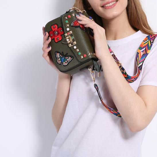 Women Small Hand Bag Flowers Designer Leather Shoulder Woman's Fashion Messenger Lady Crossbody Luxury Handbag Women Bag 32799083080