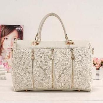new arrival fashion lace women's handbag women's tote bags, shoulder bag embroidered bag,6523