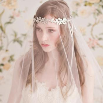 Bridal Accessories Angel designs Tiaras Hair Accessories Wedding accessories crystals headband/forehead hair accessories /necklace