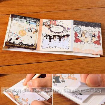 Random Japan San-X 6 Fold Circus Post It Bookmark NotePad Flag Memo Sticky Notes