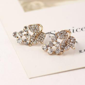 *Free Shipping* New Hot Sales Gold Plate Small Mix Order Wholesales Grapes Drill Trendy Food Zinc Jewelry Women Stud Earrings