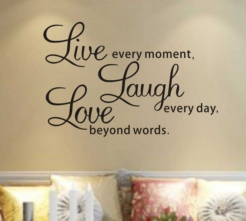 Wall Art Stickers B And Q : Wall decal quotes s q diy live laugh love quote vinyl